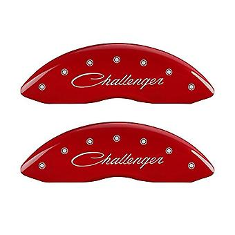 MGP Caliper Covers 12162SCLSRD Caliper Cover with Red Powder Coat Finish, (Set of 4)