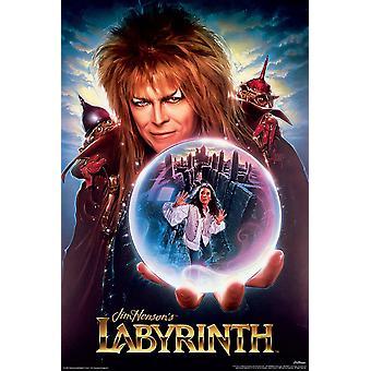 Labyrint David Bowie rejse ind i labyrinten af 91,5 x 61 cm plakat