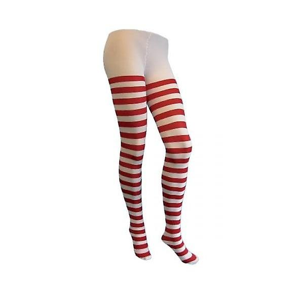 Union Jack Wear Fancy Dress Tights Lingerie Red And White Stripe