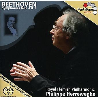 L.V. Beethoven - Beethoven: Symphonies Nos. 4 & 7 [SACD] USA import