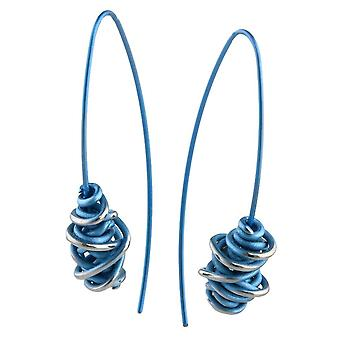Ti2 Titanium Chaos Drop Earrings - Sky Blue