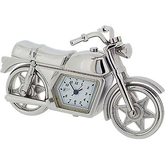 Gift Time Products Motorcycle Miniature Clock - Silver