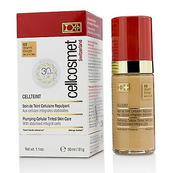 Cellcosmet & Cellmen Cellcosmet Cellteint Plumping Cellular Tinted Skincare - #03 Warm Beige - 30ml/1.1oz