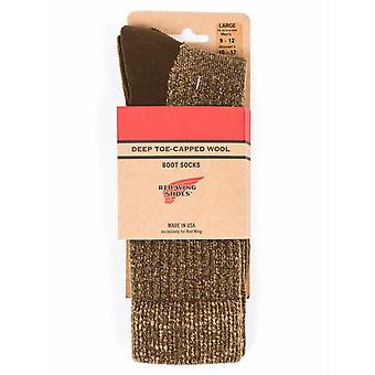 Red Wing 97178 Deep Toe Capped Wool Sock - Olive