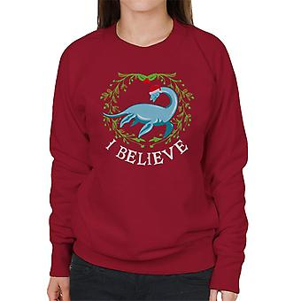 Christmas Nessie I Believe Women's Sweatshirt