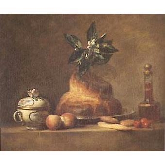 Brioche, Jean Baptiste Simeon Chardin, 47x56cm