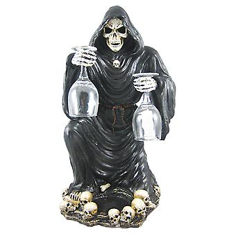 Gothic Grim Reaper Wine / Liquor Valet Holder