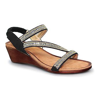 Lunaire Sofia Cross Strap Sandal
