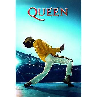 Queen en vivo en Wembley Poster Freddie Mercury 91.5 x 61 cm