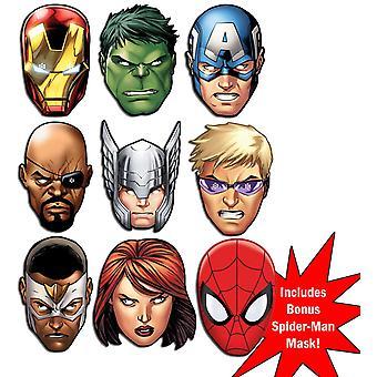 Marvel's Avengers Ultimate Super Hero Set of 9 Variety Fancy Mekko Mask Pack