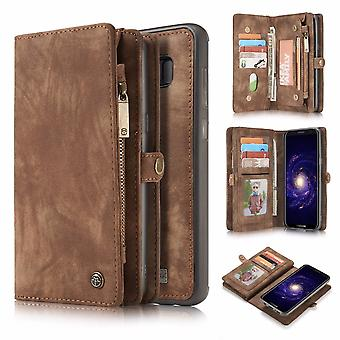 CASEME Samsung Galaxy S8 Plus Retro leather wallet Case-brown
