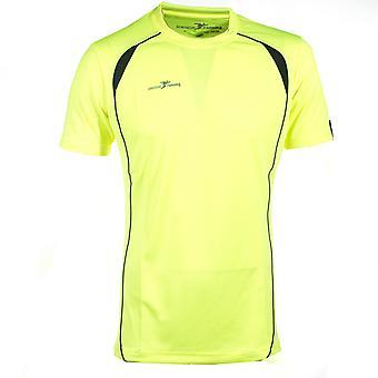 Presisjon kjører Mens kort erme Hei-Viz trening t-skjorte Tee Fluo gul