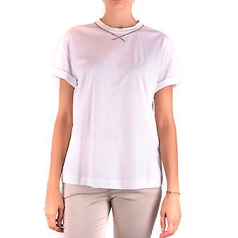 Brunello Cucinelli Ezbc002014 Women's White Cotton T-shirt