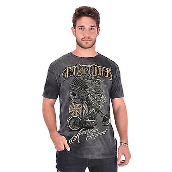 West Coast choppers mens T-Shirt Chief dark/grey
