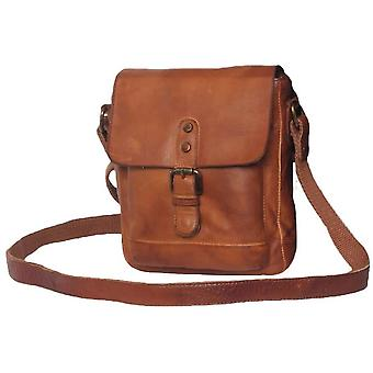 Ashwood nahka Spitafields gloving korkea VEG pieni Messenger Bag-Tan