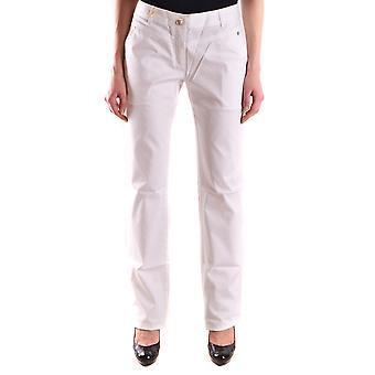 Just Cavalli Ezbc141029 Mujeres's Pantalones de Algodón Blanco