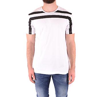 Les Hommes Urban Ezbc260011 Men's White Cotton T-shirt