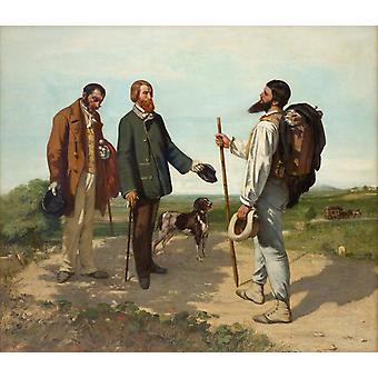 Bonjour Monsieur Courbet, Gustave Courbet, 50x43cm