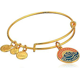 Alex and Ani Words are Powerful - Adventure Awaits Bracelet - Shiny Gold - Expandable - A18WPAASG