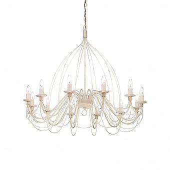 Ideal Lux Corte 12 lamp hanger licht wit Antico