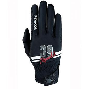 Roeckl Mayfair Adults Horse Riding Gloves - Black/white