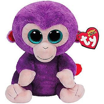 TY Beanie boos druiven paarse aap Ape gevuld dierlijke pluche zachte 24cm