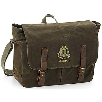 East Surrey Regiment Veteran - Licenza British Army Ricamato Waxed Canvas Messenger Bag
