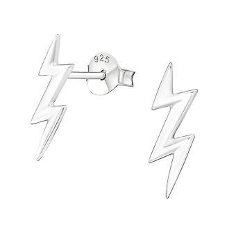 Lightning Bolt - zarcillos llano de plata esterlina 925 - W11258X