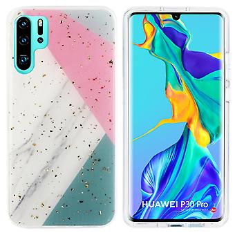 Back Cover Marble Glitter for Huawei P30 Pro Grey