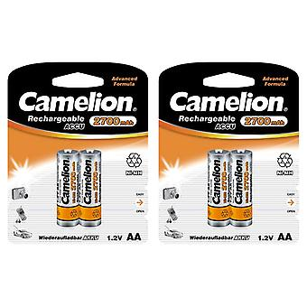 4x Camelion rechargeable batteries AA NiMH 2700mAh battery