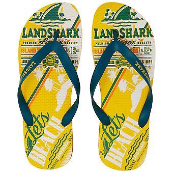 LandShark Yellow Flip Flops