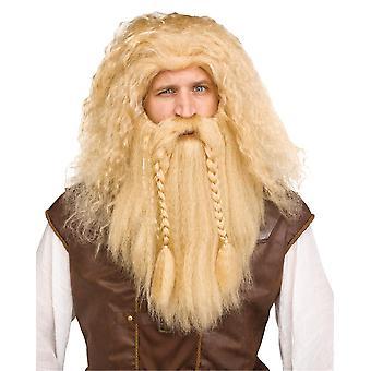 Viking Wig & skägg blondin