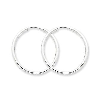 925 Sterling Silver Hinged Polished Hollow tube 2mm Hoop Earrings Jewelry Gifts for Women