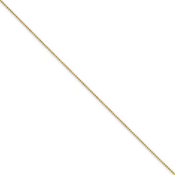 Yellow Rhodium Brass Polished Spring Ring 1.50mm Plated Ball Chain Necklace Jewely Gifts for Women - Length: 16 to 24