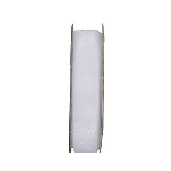 LAST FEW - 3m Snow White 10mm Wide Organza Ribbon for Crafts