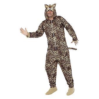 Mens Leopard Fancy Dress kostuum