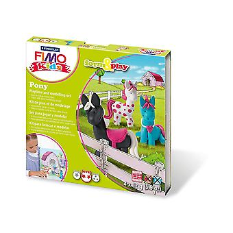 Fimo 7-Parts Kids Form and Play Pony Modelling Set, Multi-Colour