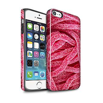 STUFF4 Gloss Tough Case for Apple iPhone 5/5S/Fizzy Strawberry Lace/Confectionery