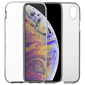 Apple iPhone XS Max Case geval 360 telefoon bescherming gevaldekking van de volledige TPU Case transparant