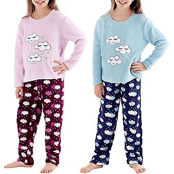Selena Girl Kids Super Soft Warm Winter Cloud Nightwear Top Bottom Pyjama Set