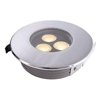 Lampa podłogowa LED płaska II 3000K x 116mm srebrny IP67