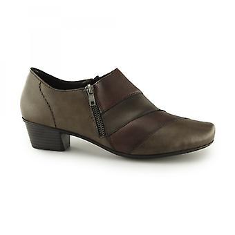 Rieker 53852-25 Damen Leder Heeled Schuhe Mahagoni