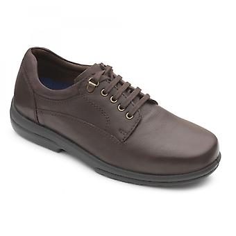 Padders Declan Mens Leather Extra Wide (h/k) Shoes Raisin