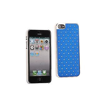 Plastic Hull With Strass On Blue Background For IPhone 5