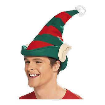Elf Hat with Ears Christmas Helper Fancy Dress Costume Accessory