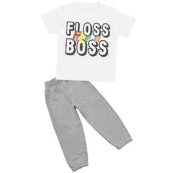Floss Like A Boss - T-Shirt with Grey Joggers - Baby / Kids Outfit