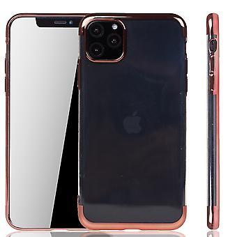 Puhelinkotelo Apple iPhone 11 Pro Rose Pink - Kirkas - TPU Silikonikotelo Backcover Suojakotelo läpinäkyvä ruusu vaaleanpunainen