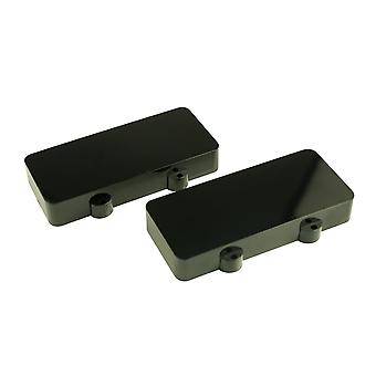 WD Music Jazzmaster Pickup Covers (set Of 2) Black - No Polepiece Holes