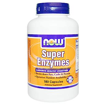 Now Foods, Super Enzymes, 180 Cápsulas