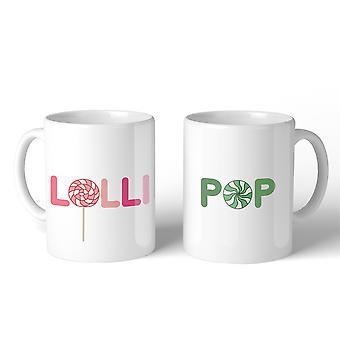 LolliPop 11oz Matching Couple Mugs Funny Grandma Grandpa Gifts
